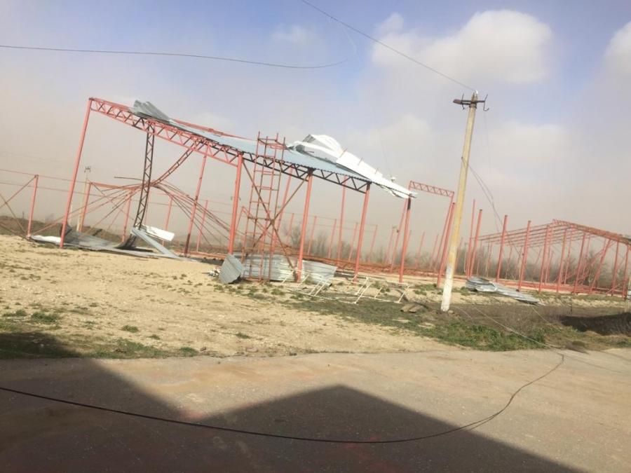 Жители района Ставрополья показали на видео последствия урагана