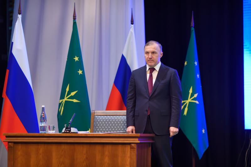 Глава Адыгеи выступил с отчётом о результатах работы по развитию региона за 2020 год