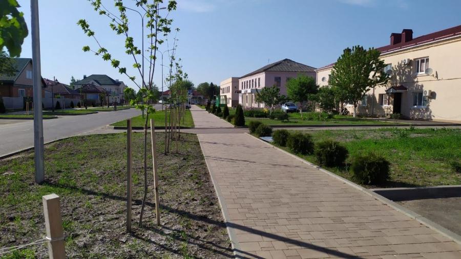 В Красногвардейском районе Адыгеи досрочно завершили благоустройство общественной территории